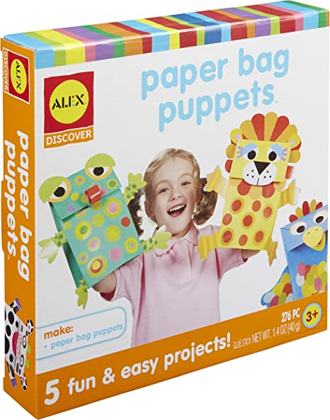 Alex Toys NOM234787 Paper Bag Puppets Kit 1411