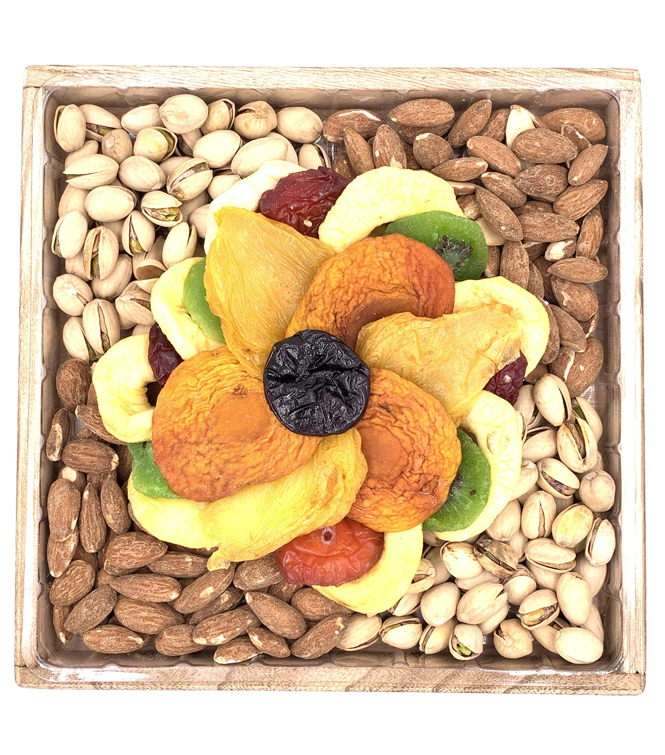 Nut and Dried Fruit Gift Box, Healthy Gourmet Snack Christmas Food Box, Great for Birthdays, Sympathy, Family Parties & Movie Night or as a Corporate Thank you
