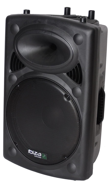 enceinte sono amplifiee 15 /38cm 800w ibiza sound slk15a-usb