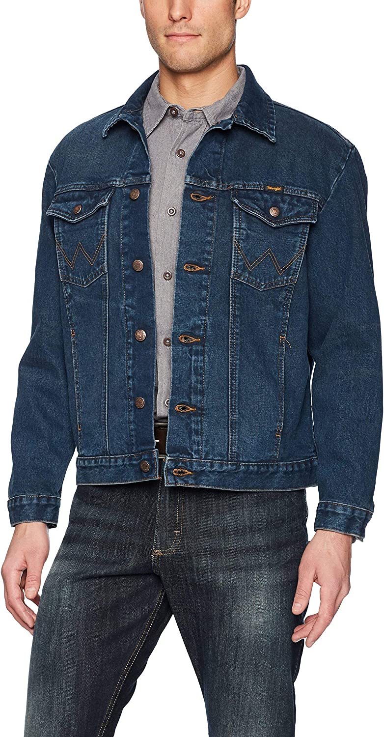 Wrangler Men's Western Unlined Denim Jacket at  Men's Clothing store: Denim Jackets