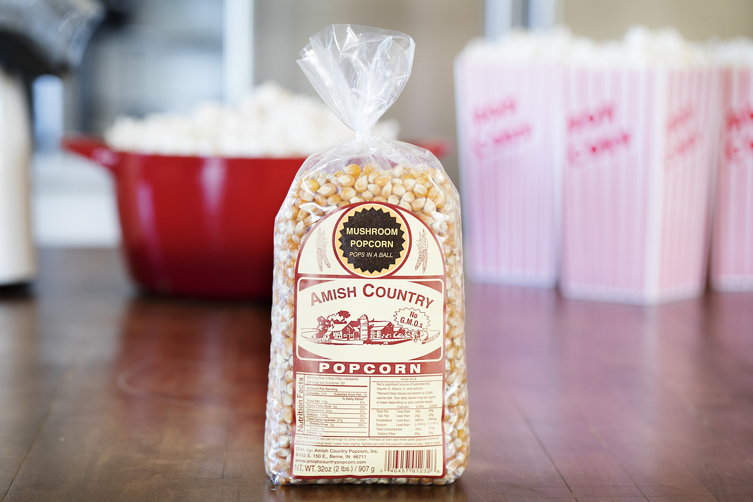 Amish Country Popcorn - Mushroom Popcorn (2 Pound Bag) With Recipe Guide - Old Fashioned, Non GMO, Gluten Free, Microwaveable, Stovetop and Air Popper Friendly by Amish Country Popcorn (Image #3)