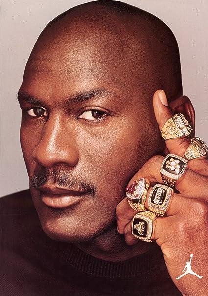 37912255021 Amazon.com   Michael Jordan Poster NBA Chicago Bulls 6 Rings 20x30 ...