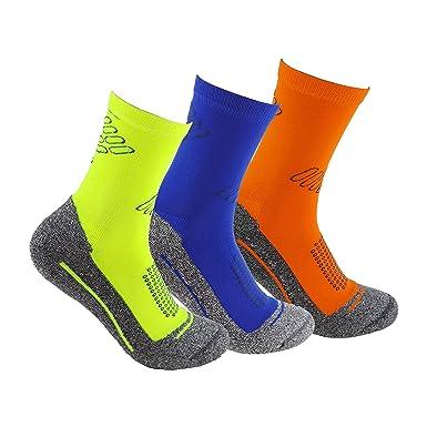 Calcetines deportivos (3 pares) SIN COSTURAS de alto rendimiento para hombre o mujer.