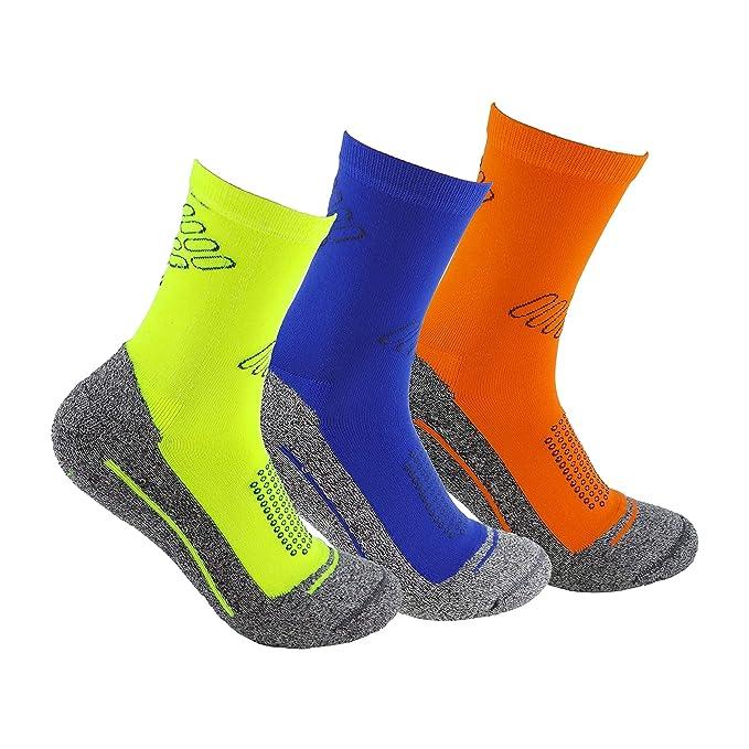 Calcetines deportivos (3 pares) SIN COSTURAS de alto rendimiento para hombre o mujer. Ideales para deportes como running, crossfit, ciclismo, pádel, ...
