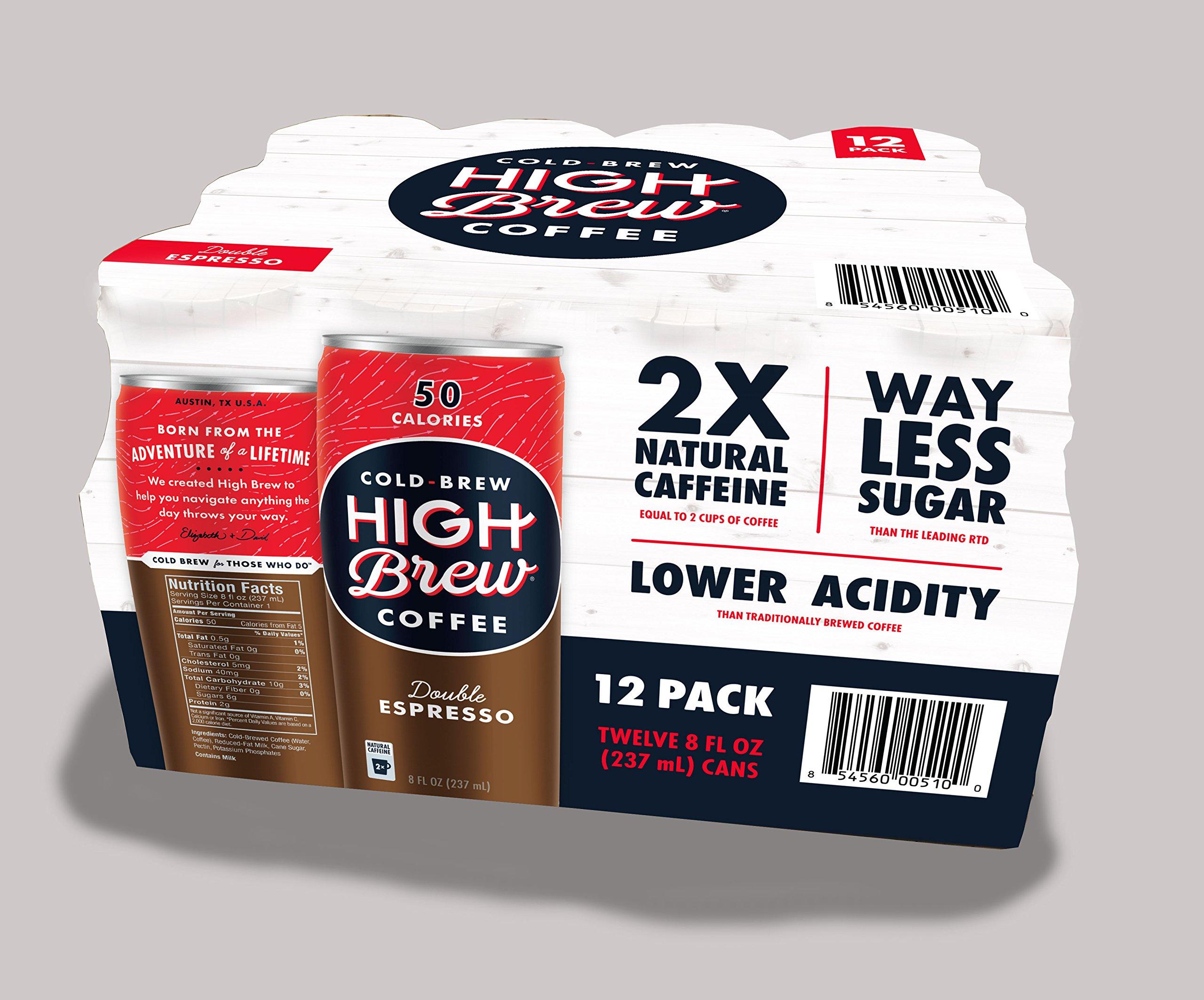 High Brew Double Espresso Club pack, 8 fl oz, 12 pack