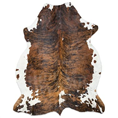 Brown Brindle Tricolor Cowhide Rug X-Large 6x8ft (180x240cm) by HIDES BAZAAR