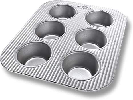 Amazon Com Usa Pan Bakeware Toaster Oven Cupcake And Muffin Pan Nonstick Quick Release Coating 11 X 9 X 1 1 2 Aluminized Steel Kitchen Dining