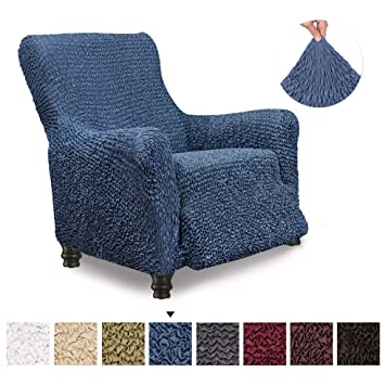 Recliner Cover - Recliner Chair Cover - Recliner Slipcover - Soft Polyester Fabric Slipcover - 1-piece Form Fit Stretch Stylish Furniture Protector - ...