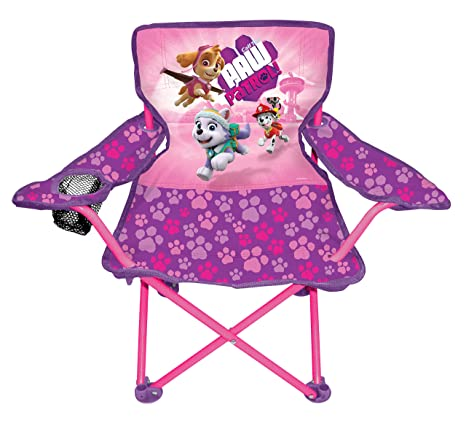 Terrific Paw Patrol Pink Camp Chair For Kids Portable Camping Fold N Go Chair With Carry Bag Evergreenethics Interior Chair Design Evergreenethicsorg