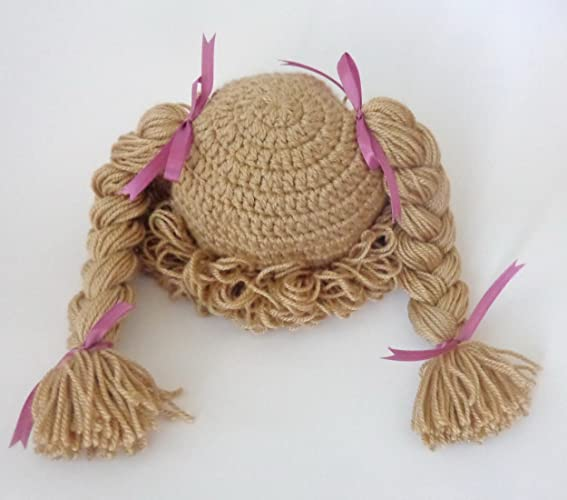 Amazon.com: Light Brown Cabbage Patch Kid Hat Inspired Wig Braid ...