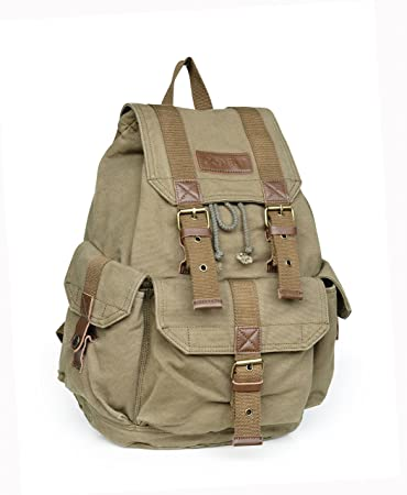 2ab960a63 Amazon.com : Gootium 21101 Specially High Density Thick Canvas Backpack  Rucksack : Sports & Outdoors