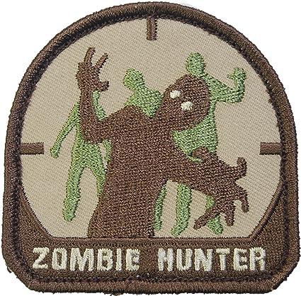 """2 pcs/lot emerson """"zombie hunter"""" patch pvc rubber badge morale."""