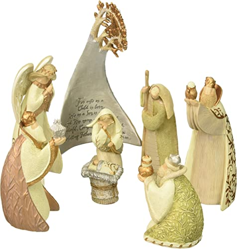 Enesco Legacy of Love by Gregg Gift Birch Tree Nativity Stone Resin Figurine Set of 8, 5