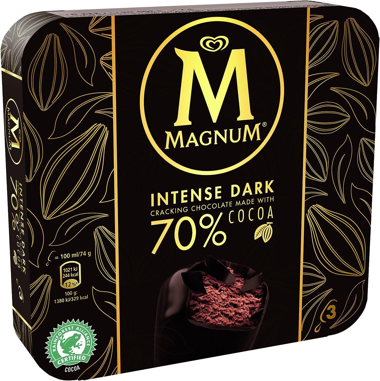 Magnum Intense Helado Chocolate Negro - Paquete de 3 x 100 ml ...