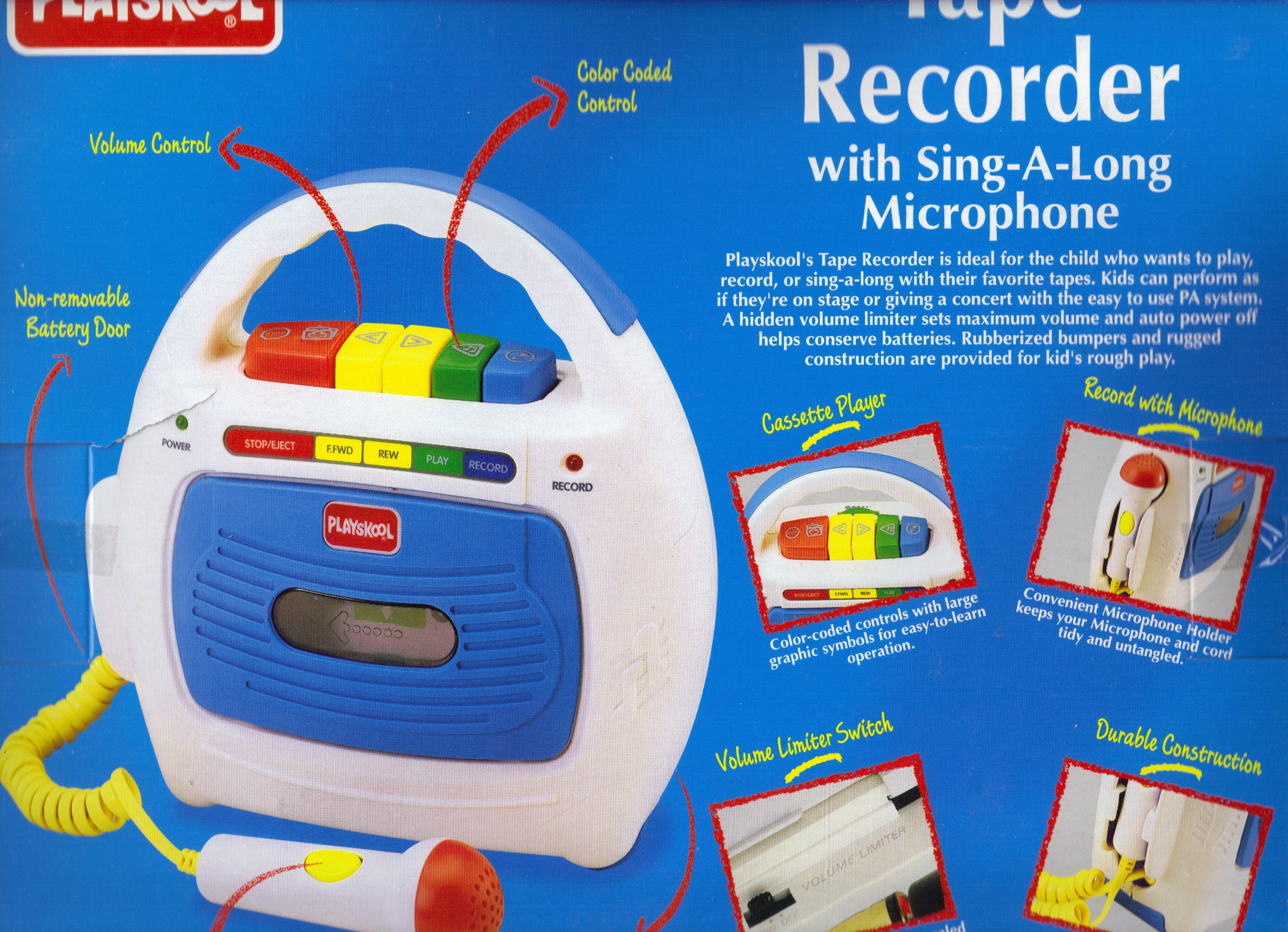 Playskool Tape Player/recorder with Sing-a-long Microphone
