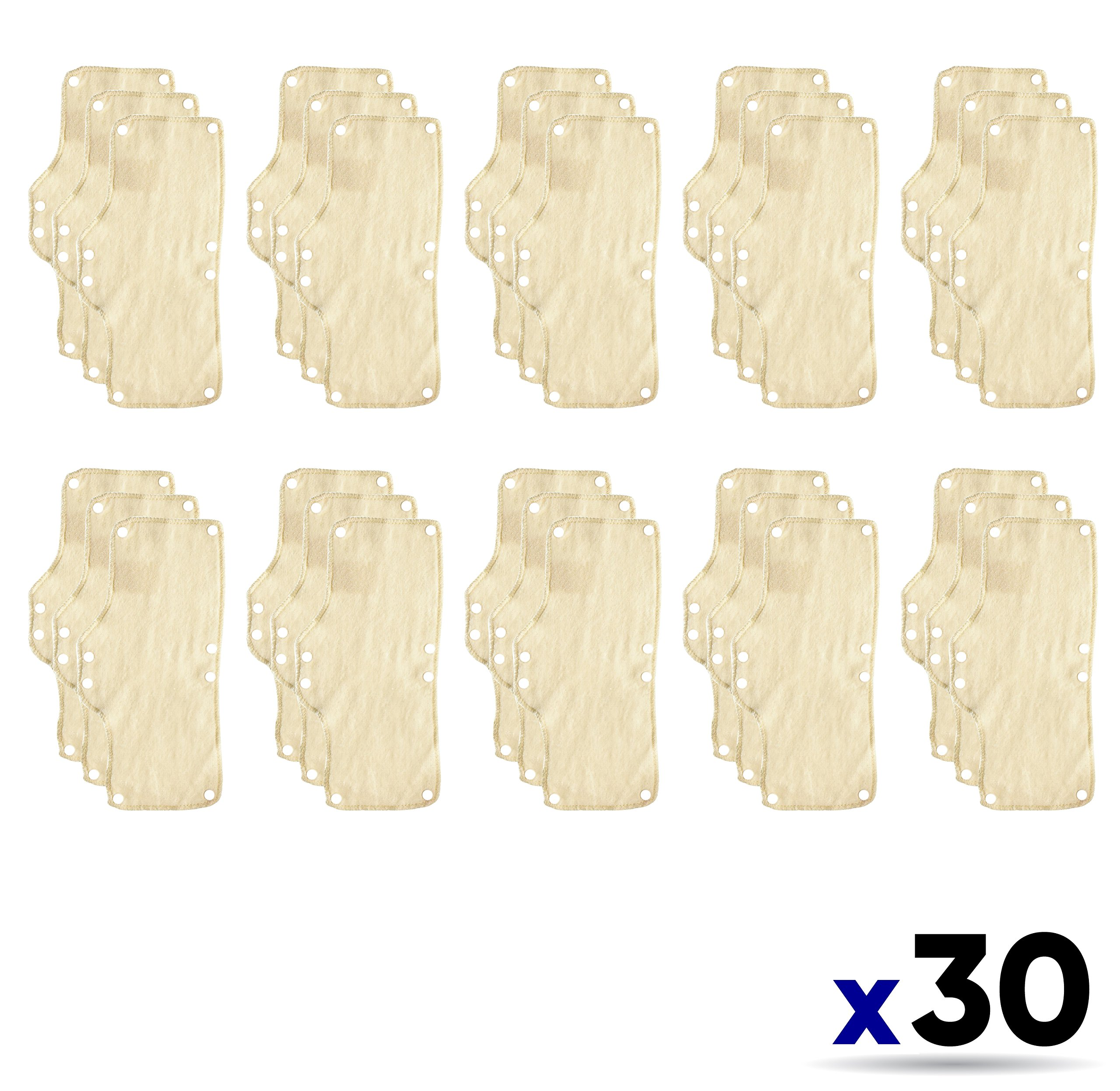 30PK Occunomix 870 Terry Toppers Snap-On Sweatband for Headgear-Beige