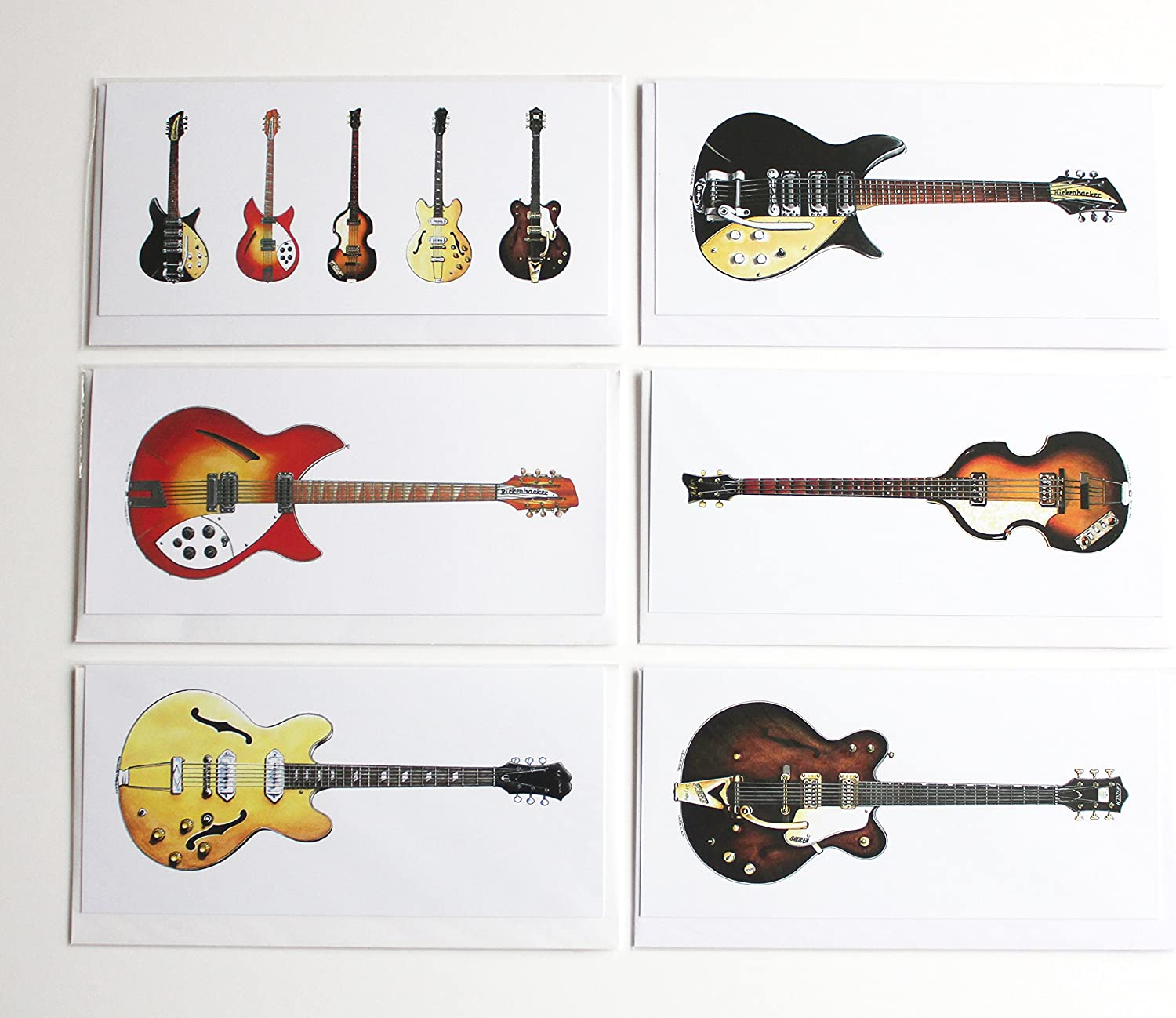 George Morgan Illustration Guitarras de los Beatles, Paquete de 6 ...