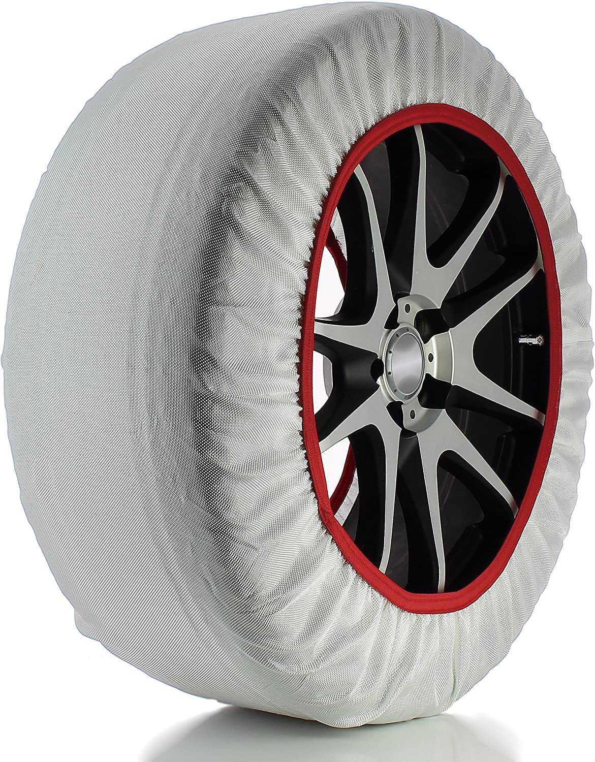 165//70 R14 Husky Sumex Textile Winter Car Wheel Ice Frost /& Snow Chain Socks for 14 Tyres
