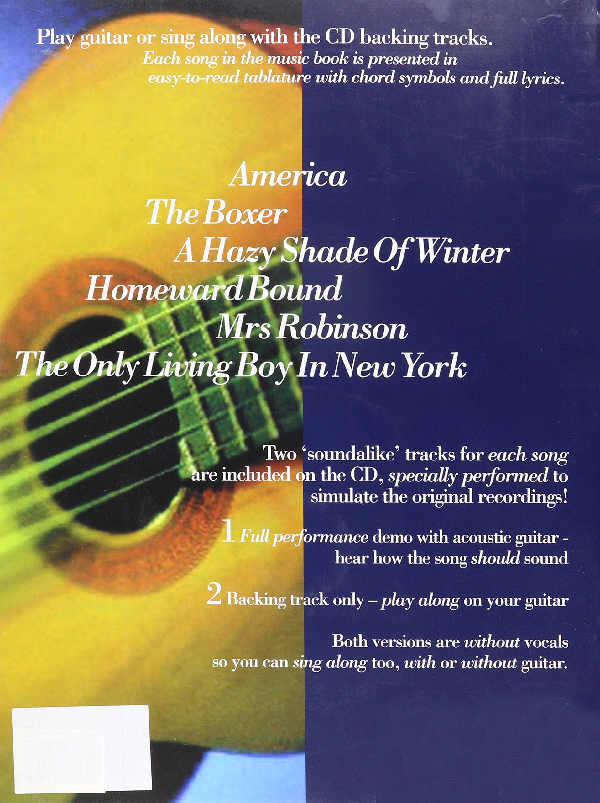 Amazon Hal Leonard Play Acoustic Guitar With Simon Garfunkel