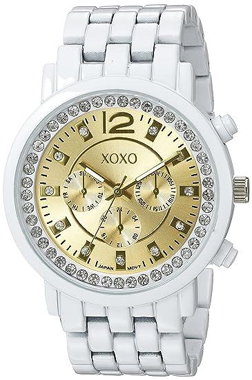 XOXO XO5811 - Reloj de pulsera Mujer, Cerámica, color Blanco
