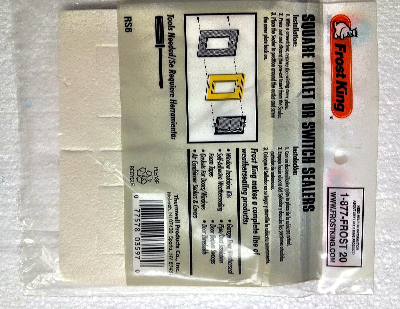 Frost King RS6H Rectangular Outlet Sealers - Hardware Sealers ...