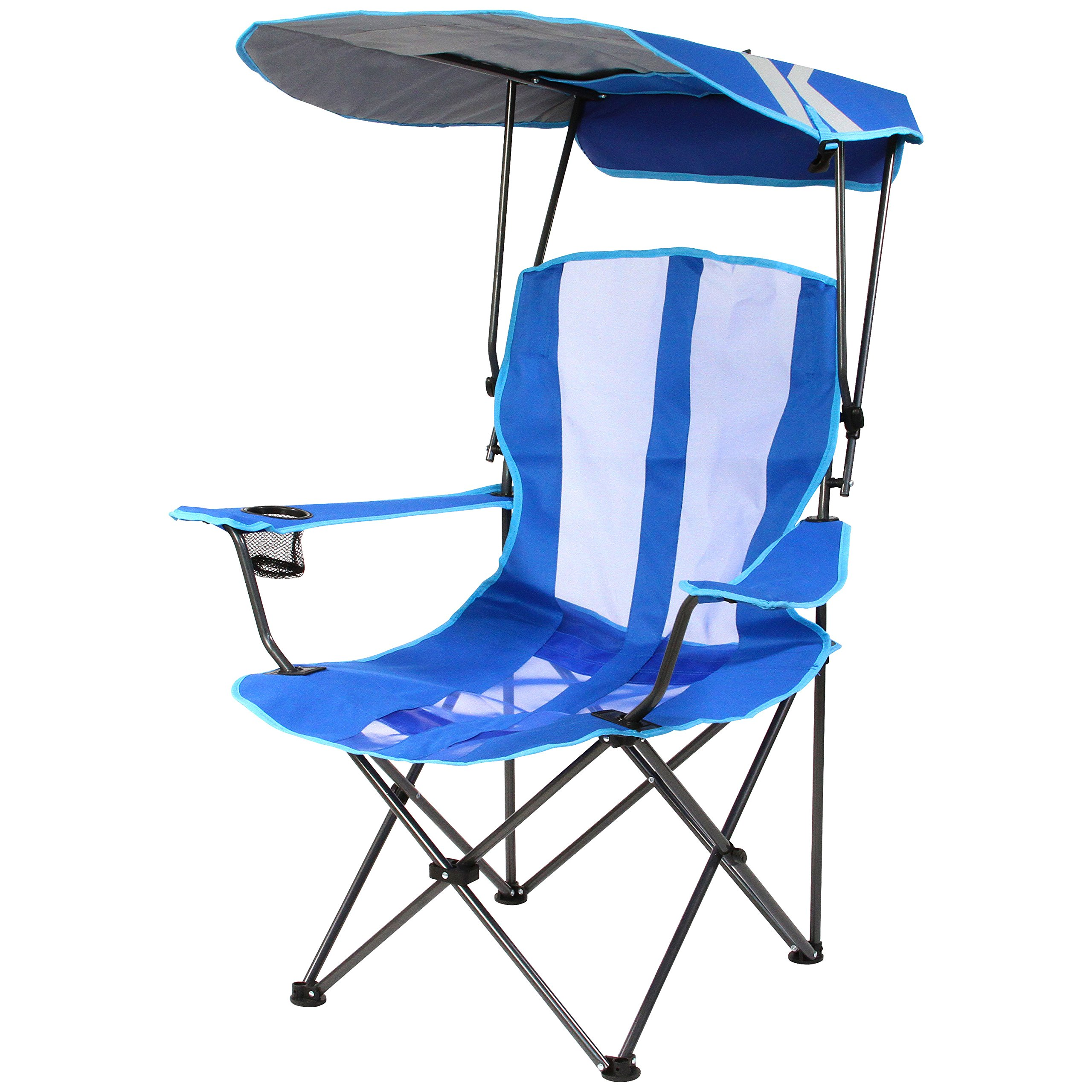 Kelsyus Original Canopy Chair - Foldable Chair for Camping, Tailgates, and Outdoor Events - Royal Blue