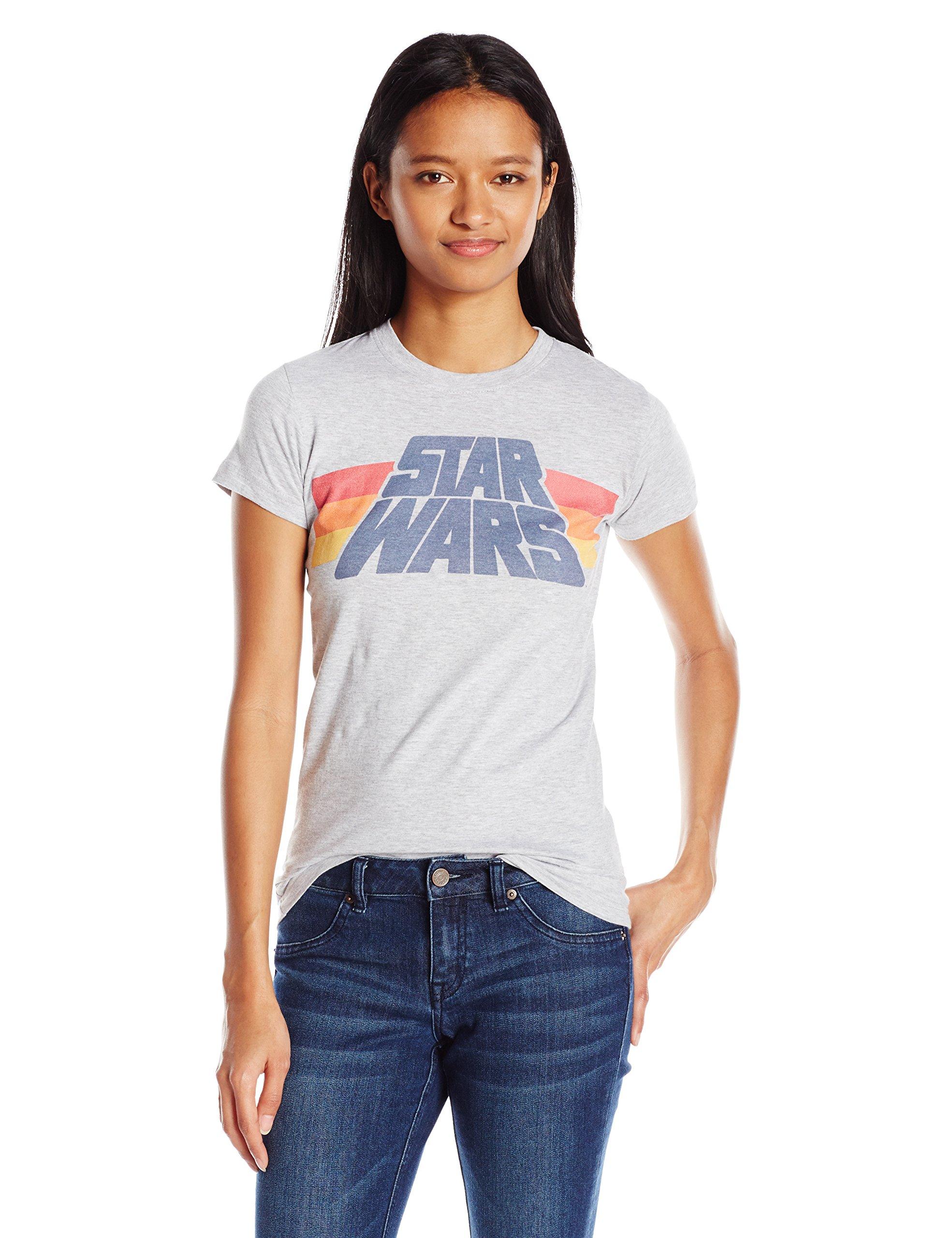 Star Wars Slant Logo Stripe Graphic Tshirt