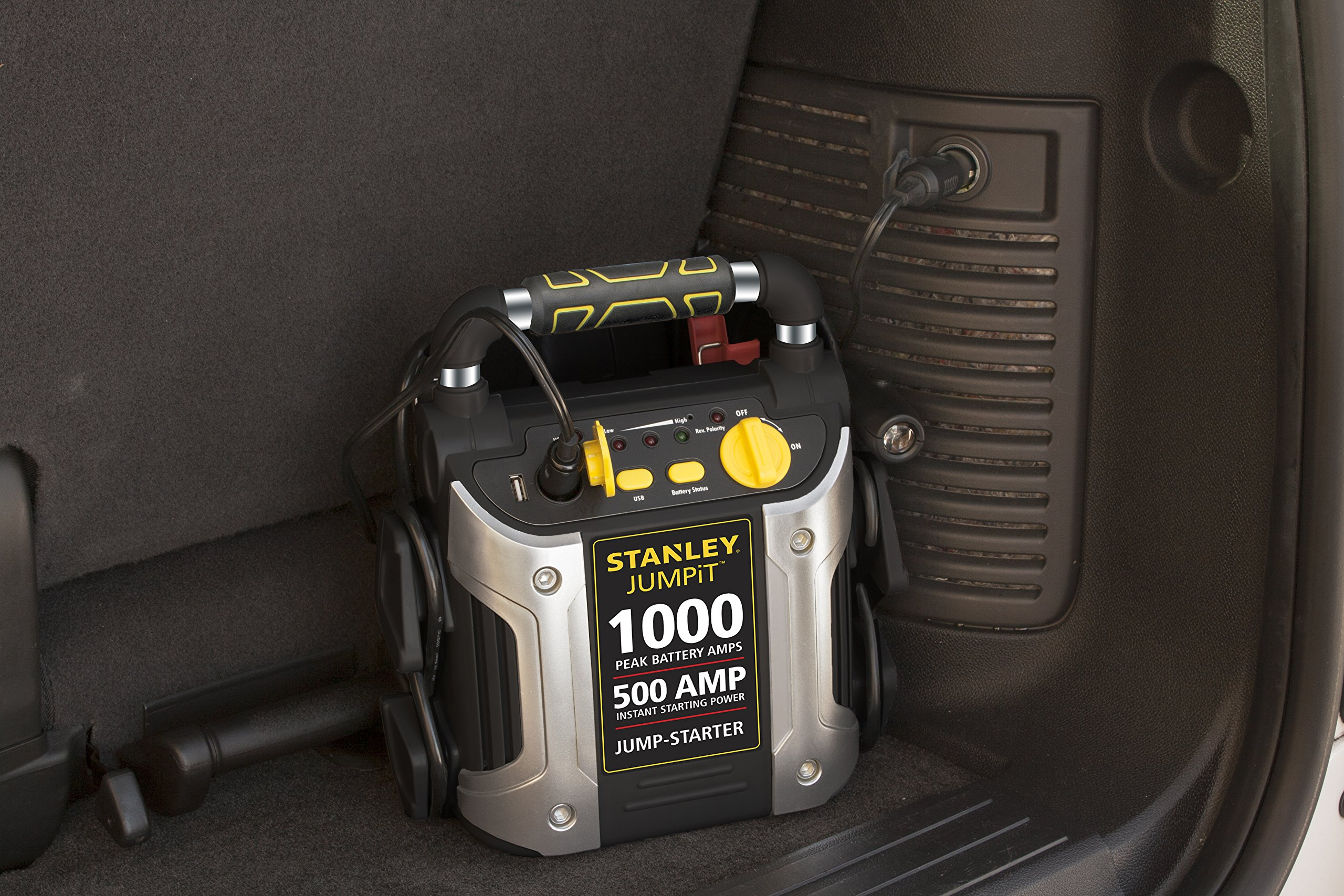 STANLEY J5C09 Power Station Jump Starter: 1000 Peak/500 Instant Amps, 120 PSI Air Compressor, Battery Clamps by STANLEY (Image #7)