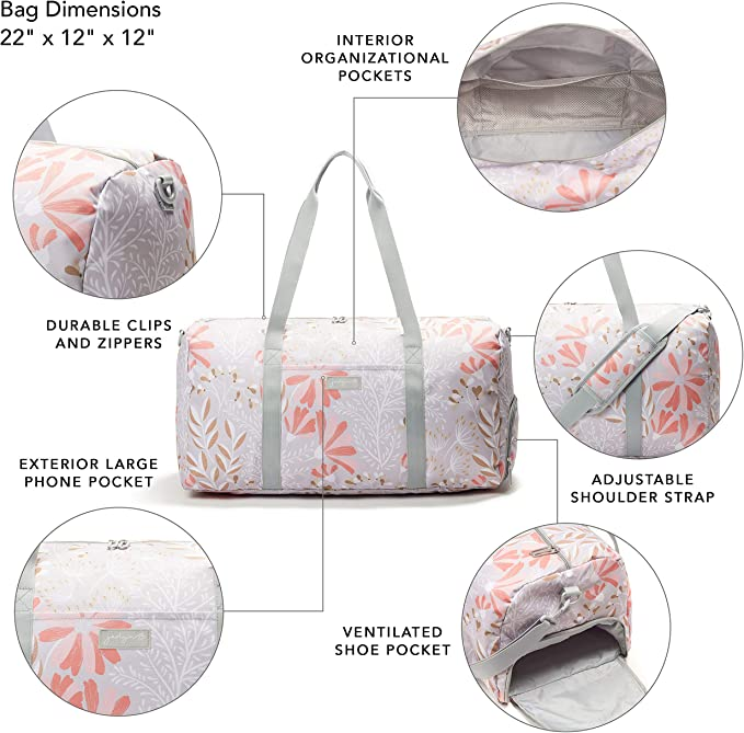 Sac polochon avec Poche /à Chaussure Jadyn B Weekender Bag 56 cm.// 52L