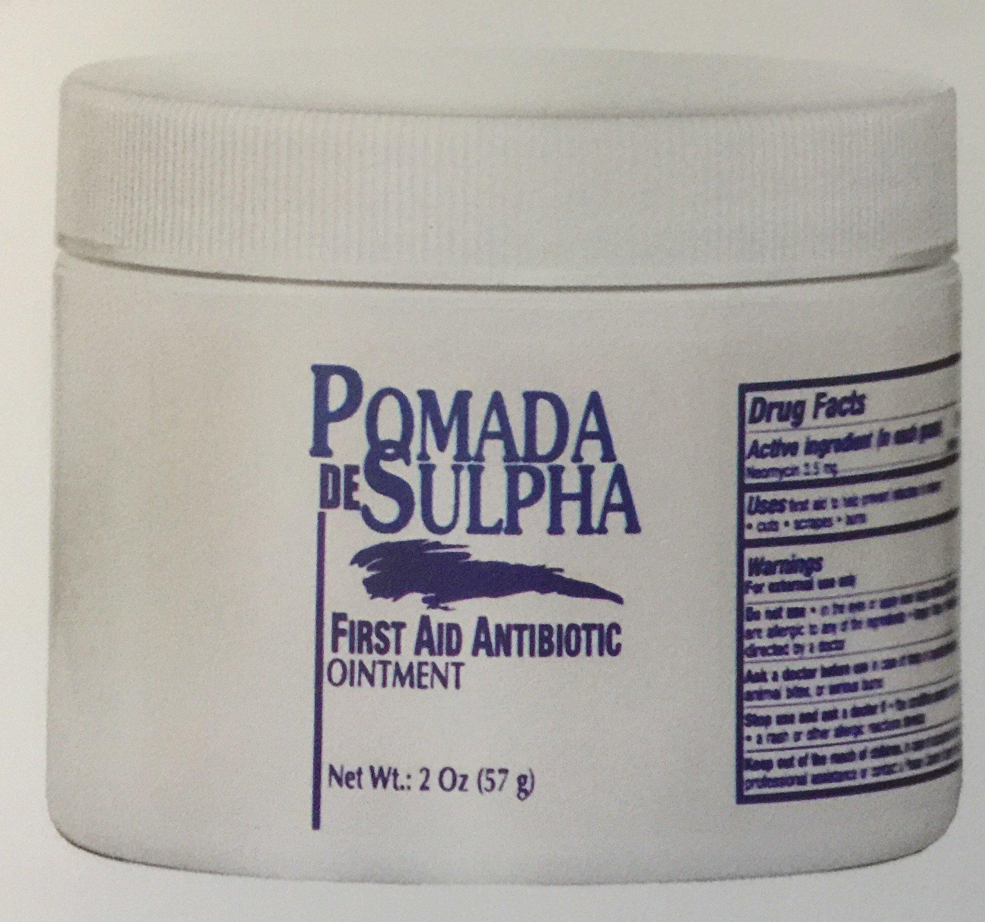 Pomada De Sulpha First Aid Antibiotic Ointment 2 oz.
