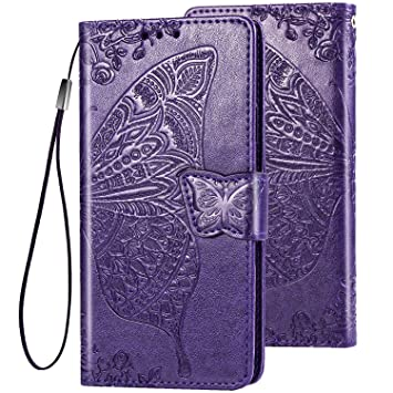 LEMORRY Mariposa Funda para LG Q60 / LMX525EAW Estuches ...