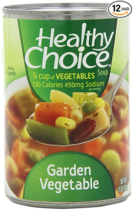Healthy Choice Garden Vegetable Soup 15 Ounce Units Pack Of 12
