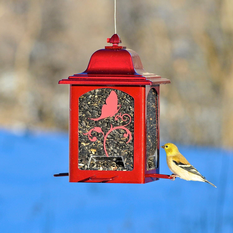 Color Rosso Brillante 363R Perky-Pet Mangiatoia per Uccelli Selvatici a Lanterna da 1 kg