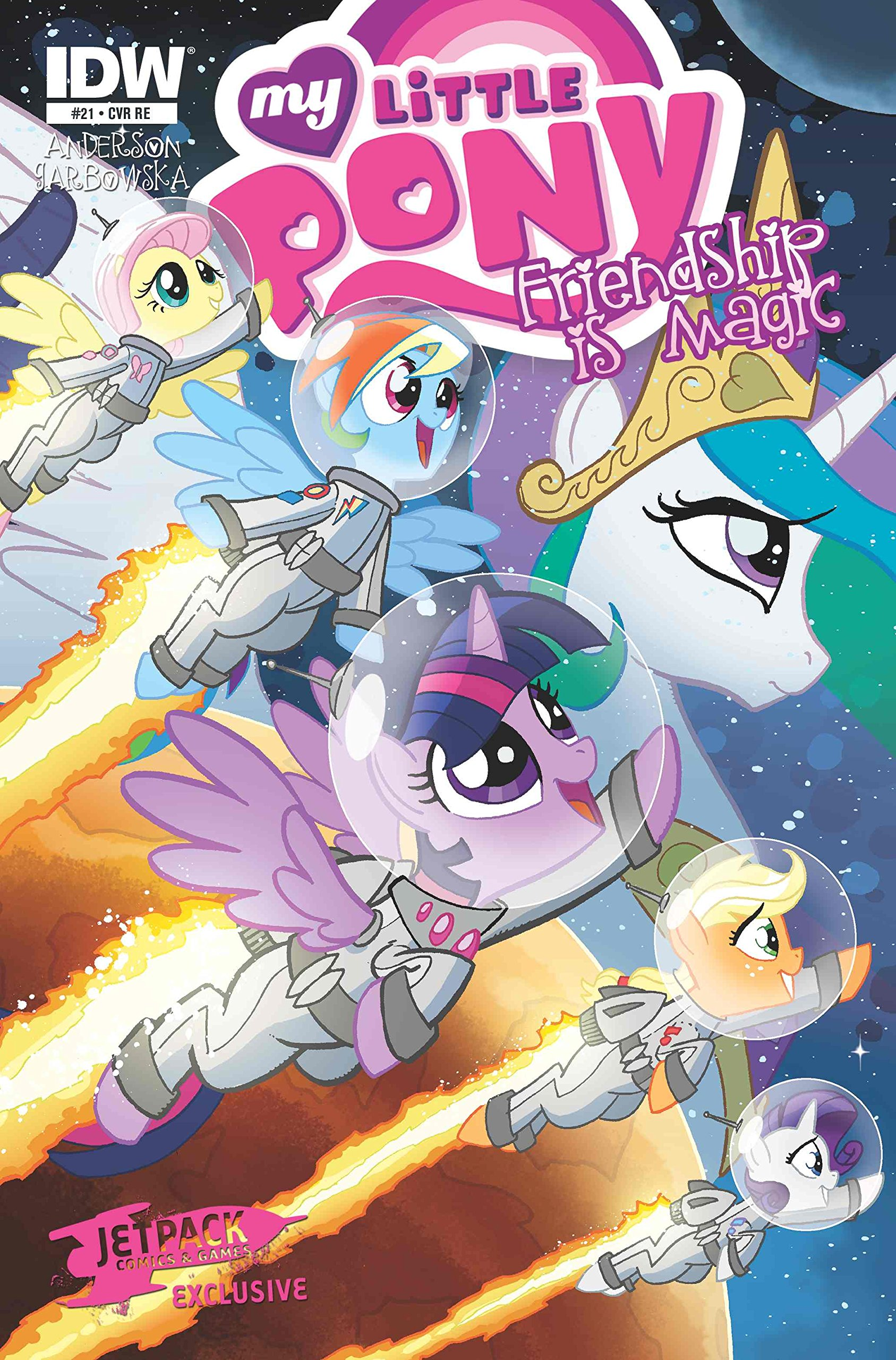 Download My Little Pony Friendship Is Magic #21 Jetpack Comics Exclusive Cover (Color) pdf