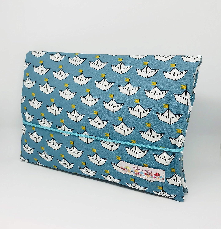 *Wunschname* Windeltasche Wickeltasche für unterwegs, viele Fächer für Windeln und Feuchttücher, Boote