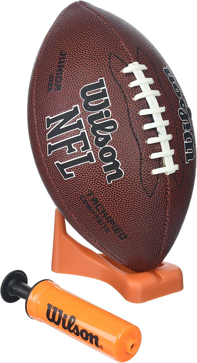 Wilson NFL Enforcer Football with Pump and Tee, tan : Official Footballs : Sports & Outdoors