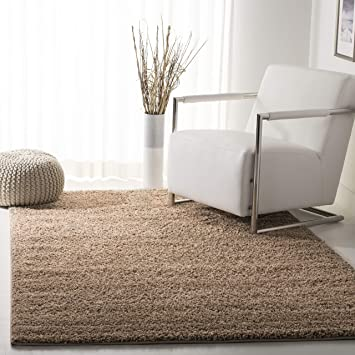 Amazon Com Safavieh New York Shag Collection Sg166a Dark Beige Area