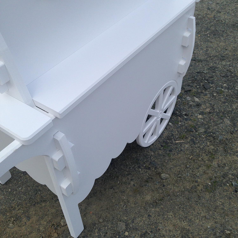 Carros de Candy Color blanco carro de boda dulces carrito para bautizo ideal para celebración: Amazon.es: Hogar