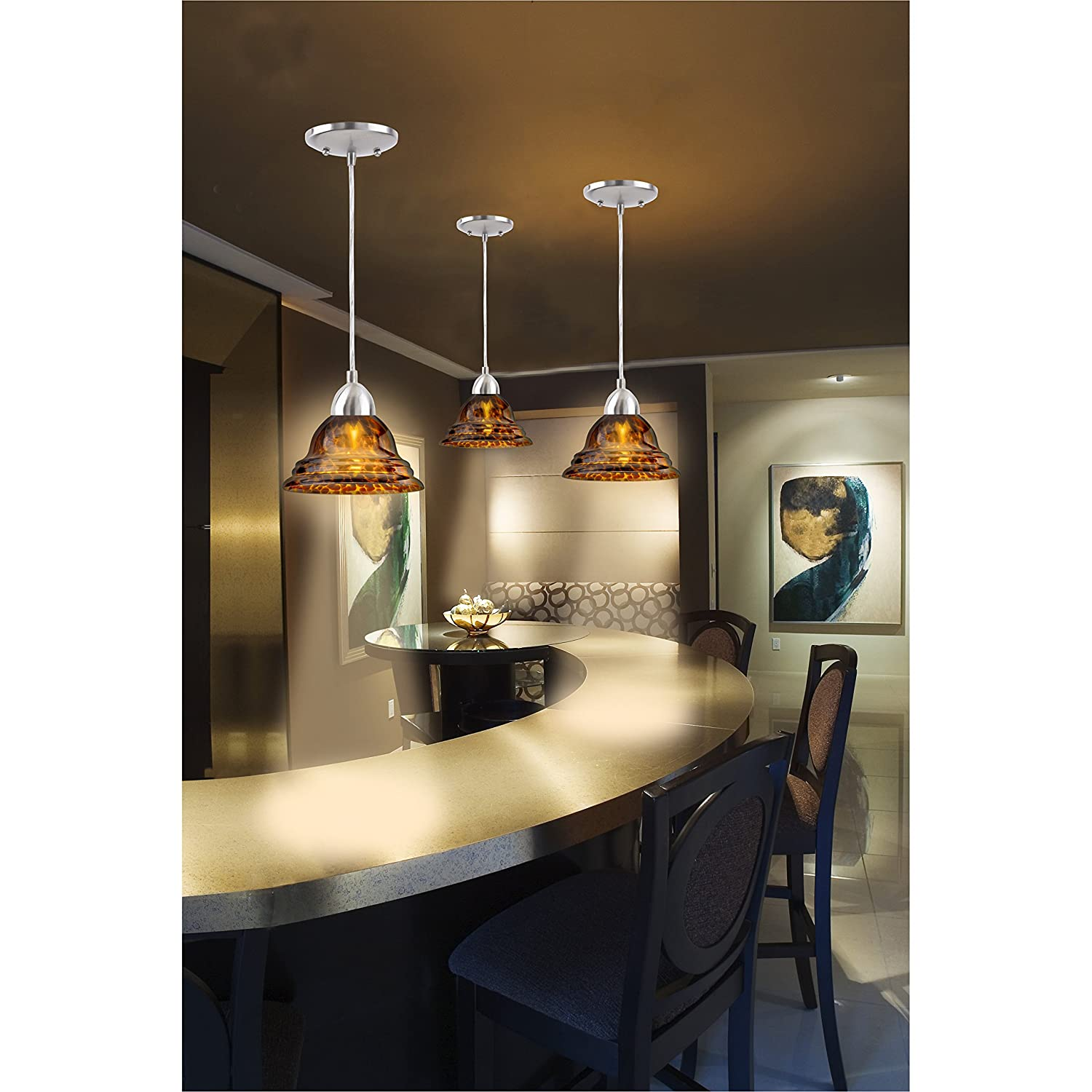 Westinghouse Lighting SingleLight MiniPendant Kit With - Kitchen pendant lighting amazon