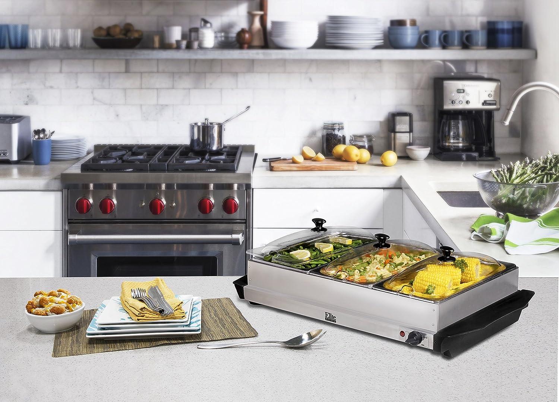 Amazon.com: Elite Platinum EWM-6171 Maxi-Matic 2.5 Quart 3 Tray ...