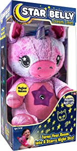Ontel Star Belly Dream Lites, Stuffed Animal Night Light, Pink and Purple Unicorn