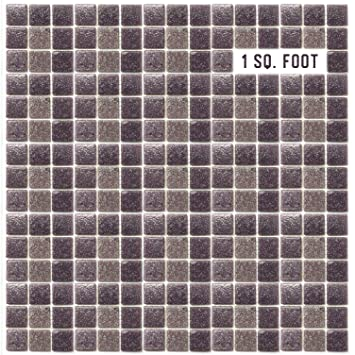 Amazoncom Eachpole Dark Purple Mosaic Tile Textured Semi Gloss - Purple-mosaic-bathroom-tiles