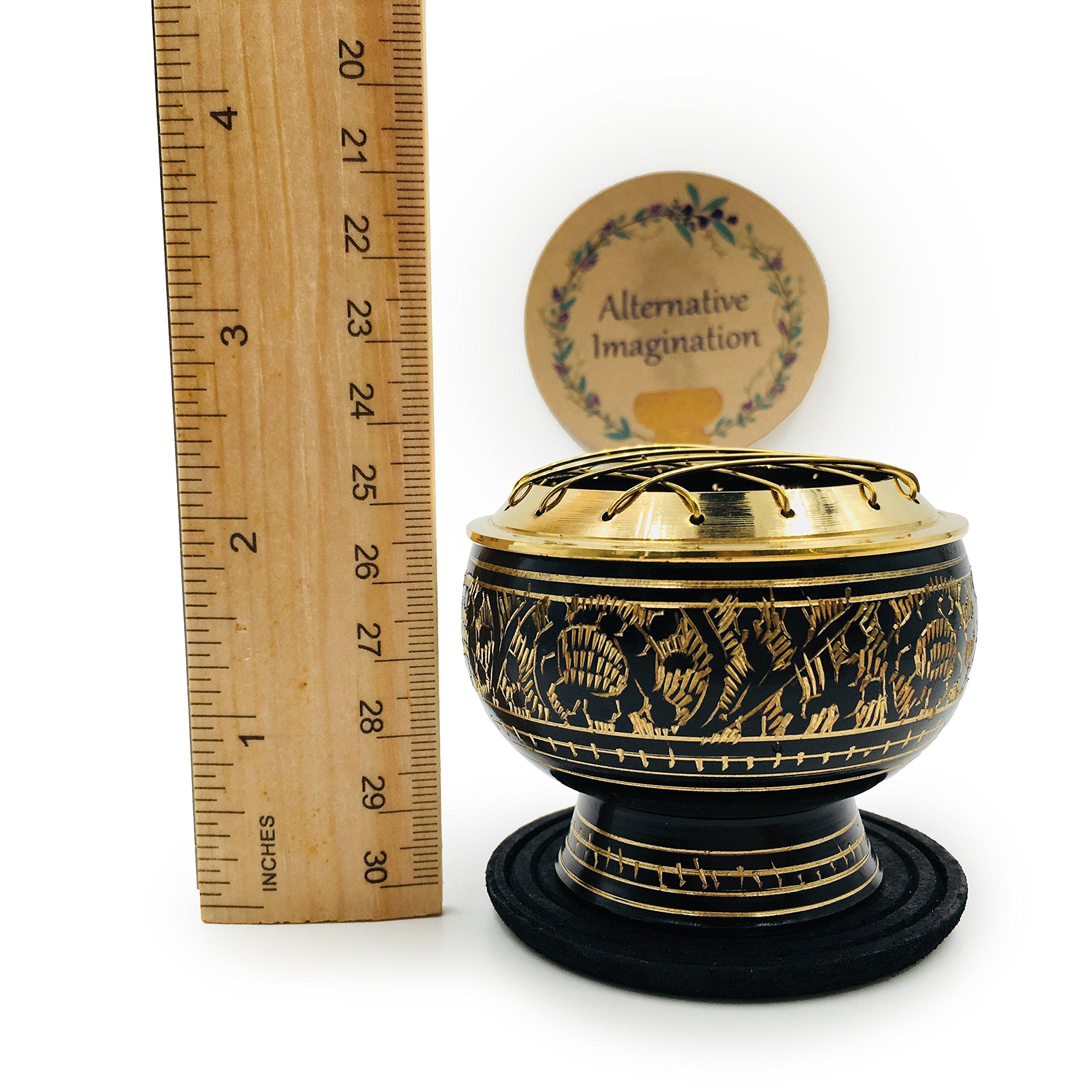 Alternative Imagination Premium Copal Burning Kit (with Tibetan Incense Burner or Brass Screen Burner) (Black Brass) by Alternative Imagination (Image #6)