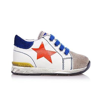 25ce316119cb Falcotto Naturino Weiße Schuhe mit Schnürsenkel, Aus Leder ...