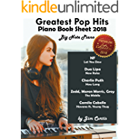 Greatest Pop Hits Piano Book Sheet 2018: Big Note Piano: Piano Book - Piano Music - Piano Books - Piano Sheet Music - Keyboard Piano Book - Music Piano - Sheet Music Book - Adult Piano