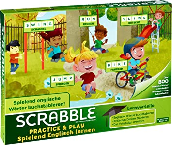 Mattel Games Scrabble Practice and Play, Juego de Mesa Infantil ...