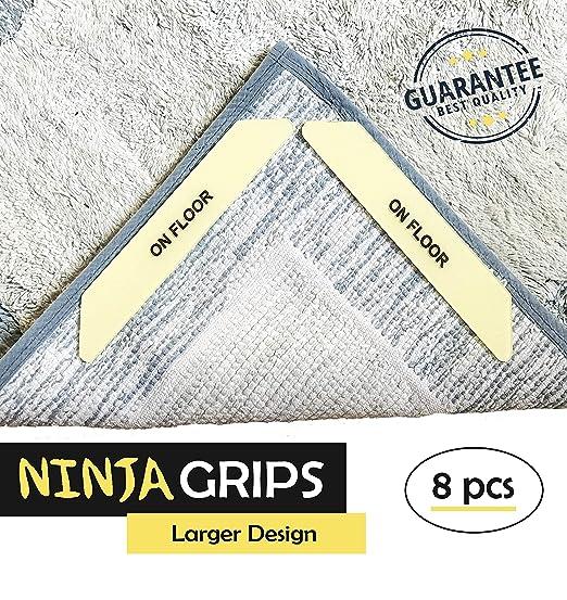 Ninja Grips - 8 Piezas Premium Alfombra Gripper tamaño ...