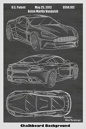 Amazon Com Aston Martin Vanquish Supercar Patent Print Art Poster