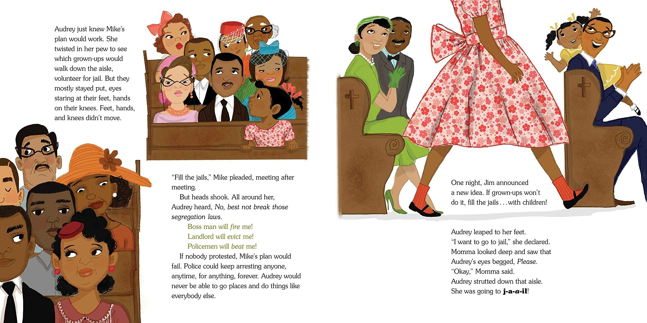 The Youngest Marcher: The Story of Audrey Faye Hendricks, a Young Civil Rights Activist by ATHENEUM (Image #4)