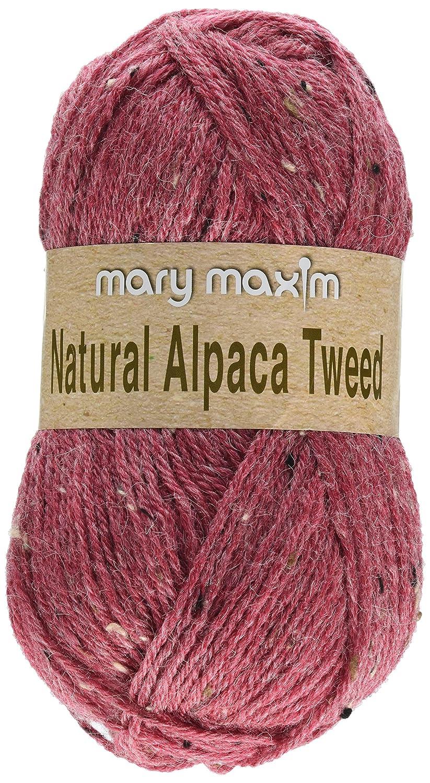 Mary Maxim Y083-304 Natural Alpaca Tweed Yarn-Sand Dune